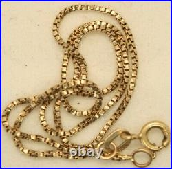 100% Genuine 9K Solid Yellow Gold Box Link Chain Bracelet or Anklet 25.5cm