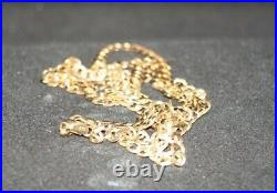 100% Genuine 9k Solid Yellow Gold Curb Link Fine Necklace Chain 55cm