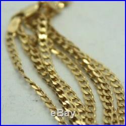 100% Genuine 9k Solid Yellow Gold Diamond Cut Curb Link Chain 45.5 cm
