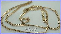100% Genuine 9k Solid Yellow Gold Flat Square Links Necklace Chain 46cm