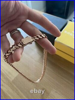 115.1g 9ct Rose Gold Cuban Miami Chain 24 Inch