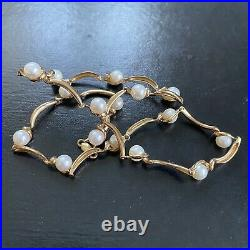 14.6g VINTAGE 9ct GOLD CULTURED PEARL NECKLACE Chain 16