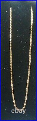 14ct Yellow Gold Necklace Italy 16 Inch 585 Display Box Not Scrap