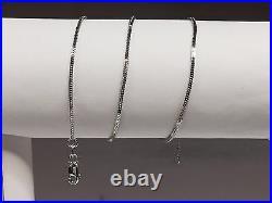 14k White Gold 16 MILANO Snake Pendant Chain Necklace 1.8 gram 1.1 MM WMIL010