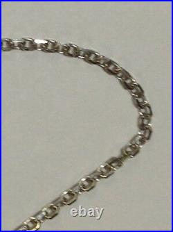 14k White Gold Cable Link Pendant Chain/Necklace 20 1 mm WCAB030