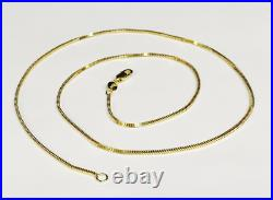 14k Yellow Gold 16 MILANO Snake Pendant Chain Necklace 1.8 gram 1.1 MM