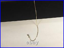 14k Yellow Gold 16 MILANO Snake Pendant Chain Necklace 1.8 gram 1.1 MM MIL010