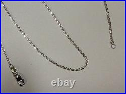 14kt White Gold Cable Link Pendant Chain/Necklace 20 1.1 mm 1.8 grams WLCAB030