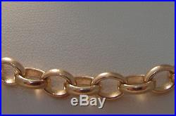 159F VINTAGE GENTS 9CT GOLD SOLID 1 TROY OUNCE 19 INCH BELCHER CHAIN