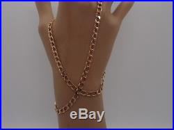 18.5 ins QUALITY HM 1986 GLEAMING 4.1mm wide 9ct GOLD CURB CHAIN NECKLACE 14.1g