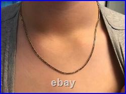 18 9ct Gold Curb Hallmarked 375 Chain Weight 5.3g