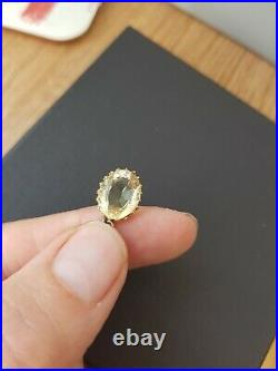 18 Antique 9ct Rose Gold Edwardian citrine lavaliere drop pendant original chain