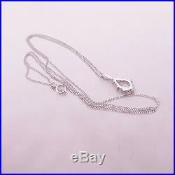 18ct 3/4ct Pear Drop Diamond Pendant on 9ct gold chain