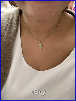 18ct Gold & Solid Black Opal Pendant On 9ct Gold Chain Last Reduction