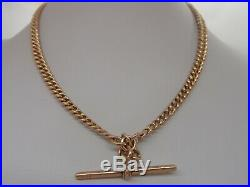 18in HEAVY VICTORIAN EDWARDIAN STYLE 9ct GOLD DOUBLE ALBERT T BAR NECKLACE 40.8g