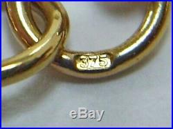 1990's VINTAGE HM 9CT GOLD ALBERT STYLE 7.5 ins BELCHER CHAIN BRACELET/6.9 g