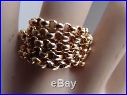 19in 2mm round links VICTORIAN DIAMOND CUT 9ct GOLD BELCHER CHAIN NECKLACE 5.6g