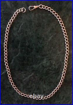 19th C Victorian / Edwardian Antique 9ct Gold Albert Watch Chain 50cm Necklace