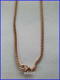 20 9ct Rose Gold Curb Chain