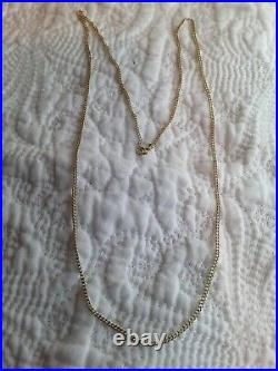 20 Inch Solid 9ct Gold Necklace Curb Chain Stamped 375 Perfect For A Pendant
