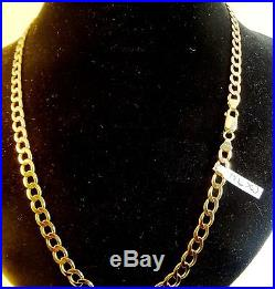 20 Solid 9ct Gold CURB Chain Necklace 20gr Hm RRP £1000 6mm links cx94