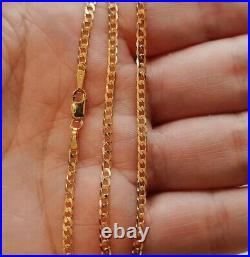 20 Solid 9ct Gold Curb Chain Necklace 20 Inches Fully UK Hallmarked