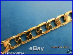 20seriously Heavy Curb Link Solid 9ct Gold Chain Full Uk Hallmark
