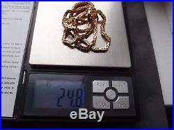 20inches HEAVY 375 HALLMARKED QUALITY STUNNING BYZANTINE 9ct GOLD NECKLACE 24.8g