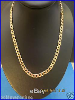 21 VERY HEAVY CURB LINK CHAIN in SOLID 9CT GOLD FULL UK HALLMARK