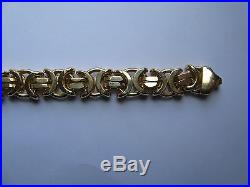 22 8.5mm thick 9ct Gold Byzantine Chain 92g
