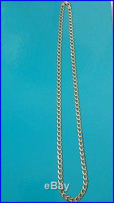 22 inch 9ct gold solid curb necklace
