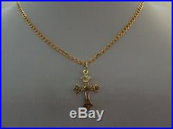 22in 9ct GOLD CRUCIFIX CROSS and CHAIN 9ct GOLD CURB CHAIN NECKLACE 3.5mm 7.6gms
