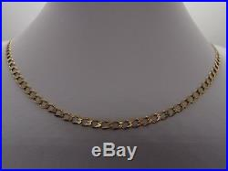 24.5ins FULLY HM GLEAMING 4.2mm LINKS 9ct GOLD CURB LINK CHAIN NECKLACE 10.1gm