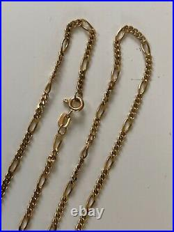 24 Inches Long Strong Vintage 9ct Gold Chain Necklace Unusual Link Design