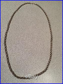 24inch Hall marked 9ct Gold Belcher Chain/necklace 19.4grams Scrap Or Wear