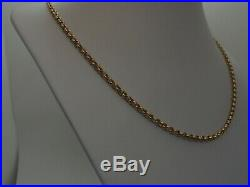 24ins FAB SHEFFIELD HM 3.9mm ROUND LINKS 9ct GOLD BELCHER CHAIN NECKLACE 22.8g