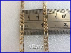 26 HEAVY FIGARO LINK SOLID 9ct GOLD CHAIN FULL UK HALLMARK