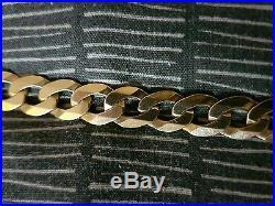 2oz 9ct gold flat curb chain