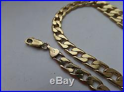 33.3 grams 9ct Gold Figaro Curb Link Chain Not Scrap Heavy Hallmarked Gold
