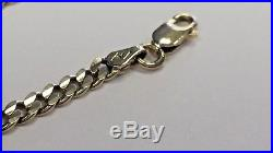 375 9ct GOLD 18 FLAT CURB CHAIN NECKLACE 12G