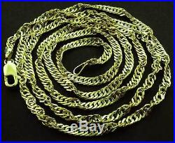 375 9ct Gold 16 18 20 22 24 Singapore Twisted Curb Link Rope Chain Necklace