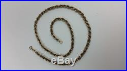 375 9ct Gold 20 Rope Chain Necklace
