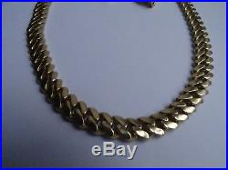 375 9ct Solid Heavy Yellow Gold Cuban Chain Fully Hallmarked 30