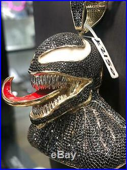 375 9ct Yellow GOLD ICE VENOM MENS Icy Shine Shiny BLING RAPPER ONLY PENDANT NEW