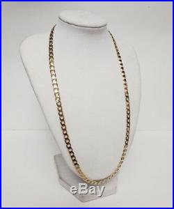 375 9ct Yellow Gold Curb Chain 20