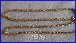 375 9ct gold hallmark Rope style heavy chain