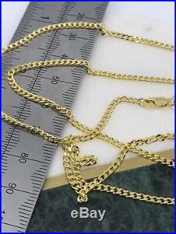 3mm 9ct Yellow Gold Curb Link Chain Necklace 18 20 22 Brand NEW