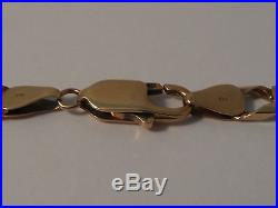 54G MENS/LADIES 9CT GOLD CURB CHAIN 19 3/4 INCHES