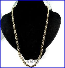 54gr! HEAVY Solid 9ct Gold BELCHER Chain Necklace 24 Hm