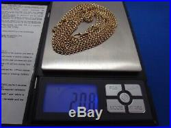57in QUALITY Antique Victorian 9ct Gold MUFF LONG GUARD CHAIN + DOG CLIP 20.8g